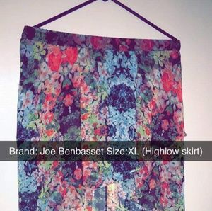 Joe BenBasset size XL highlow skirt.